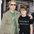 Robert Downey Jr. et son fils Indio à Hollywood le 3 novembre 2007.