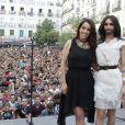 Conchita Wurst en concert lors de la Gay Pride à Madrid, en Espagne, le 2 juillet 2014.