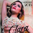 "Couverture ""Perle rare"" du calendrier 2015 de Clara Morgane. Juin 2014"