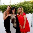 Marion Dumas, Helene Bizot et Jenny Del Pino assistent à la première du film Prêt à tout lors du 11e festival Les Hérault du cinéma et de la télé 2014 au Cap d'Agde, le 4 juillet 2014.