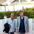 Antoine Coesens et Thomas Gilou assistent à la première du film Prêt à tout lors du 11e festival Les Hérault du cinéma et de la télé 2014 au Cap d'Agde, le 4 juillet 2014.