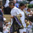 Roger Federer s'est incliné en finale de Wimbledon face à Novak Djokovic, le 6 juillet 2014, à Londres