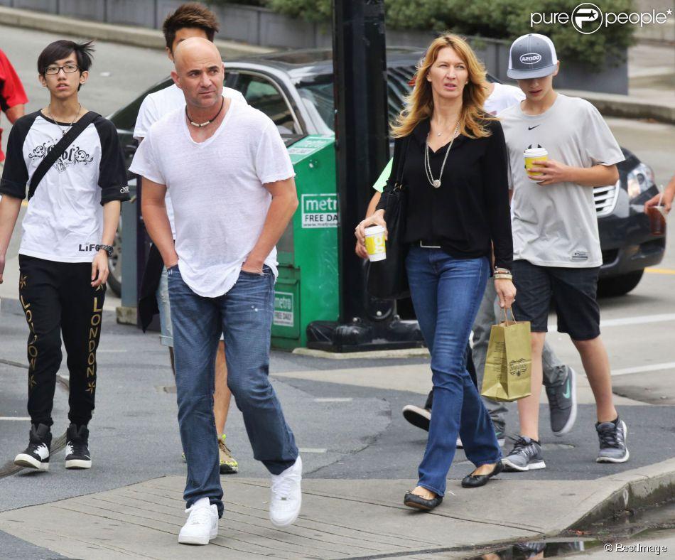 Steffi Graf Et Andre Agassi Vacances Et Mariage Avec Leur Fils