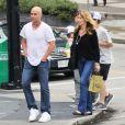 Andre Agassi accompagné de sa femme Steffi Graf et leur fils Jaden Gil à Vancouver, le 5 juillet 2014