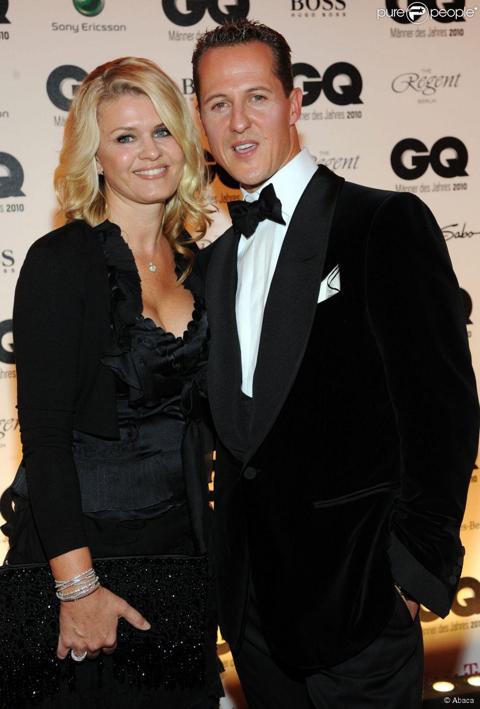 Michael Schumacher et son épouse Corinna lors des GQ '2010 Men of the Year à Berlin, le 29 octobre 2010