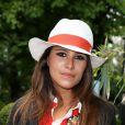 Karine Ferri - People village des Internationaux de France de tennis de Roland-Garros à Paris, le 27 mai 2014.