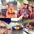 Denise Richards a partagé de nombreuses photos de ses vacances familiales dans le Montana, le 4 juillet 2014.