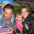 Veronica Brunati avec son mari Jorge Lopez, mort le 9 juillet au Brésil, et leurs deux enfants à Madrid en mai 2014.