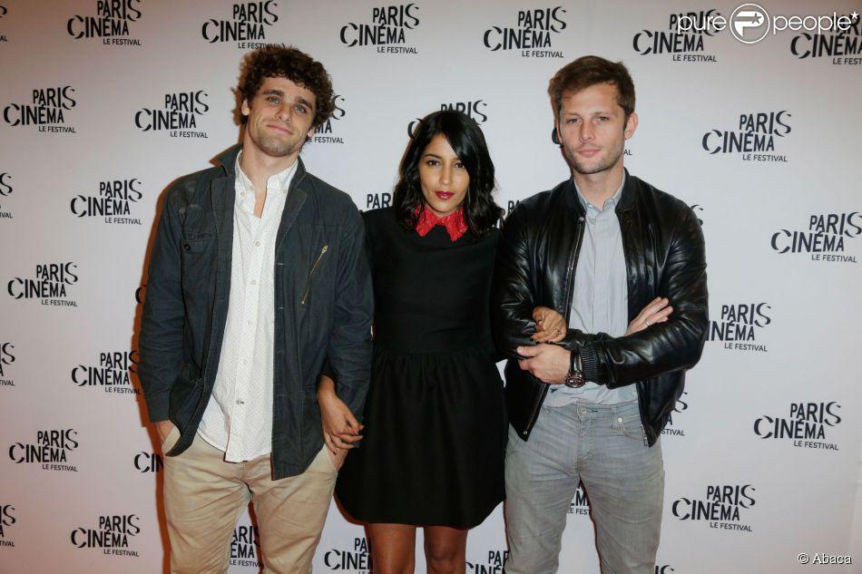 Arthur Dupont, Leila Bekhti et Nicolas Duvauchelle sont venus présenter 'Maintenant ou jamais' au Festival Paris Cinéma, le 10 juillet 2014
