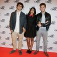 Arthur Dupont, Leila Bekhti (en Valentino) et Nicolas Duvauchelle sont venus présenter 'Maintenant ou jamais' au Festival Paris Cinéma, le 10 juillet 2014