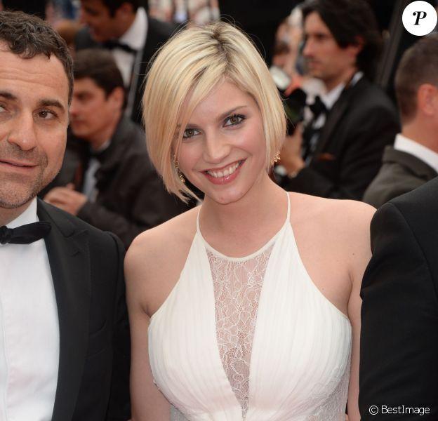 Nadège Lacroix, lors de la montée des marches du film Jimmy's Hall, lors du 67e Festival international du film de Cannes le 22 mai 2014.