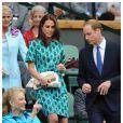 Kate Middleton et le prince William lors de la finale du tournoi de tennis Wimbledon à Londres, le 6 juillet 2014.