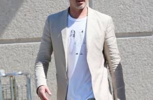 Brad Pitt en France : Sans sa tribu mais avec un T-shirt signé Vivienne