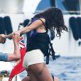 Selena Gomez avec un hématome à Saint-Tropez, le 22 juillet 2014.