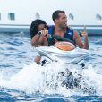 Selena Gomez célèbre son 22e anniversaire avec Cara Delevingne et s'offre une séance jet-ski avec le beau Tommy Chiabra, Saint-Tropez, le 22 juillet 2014.