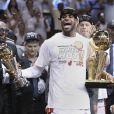 LeBron James après avoir décroché le titre de MVP des finales le 20 juin 2013 à Miami