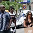 Paul Pogba et sa compagne à New York, le 24 juillet 2014