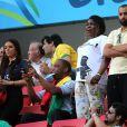La compagne de Paul Pogba lors du match France - Nigeria à Brasilia au Brésil, le 30 juin 2014
