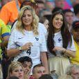 Camille Tytgat (compagne de Raphaël Varanne) et la compagne de Paul Pogba assiste au match France - Equateur à Rio de Janeiro au Brésil le 25 juin 2014