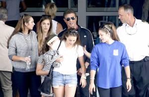 Sylvester Stallone et ses superbes filles : Top départ d'une grande croisière