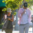 Rachel Bilson, enceinte, et son compagnon Hayden Christensen à Studio City, Los Angeles, le 30 juin 2014.