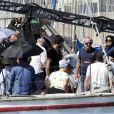 """Exclusif - Olivier Baroux - Tournage du film """"Entre amis"""" sur le Vieux Port de Marseille, le 22 juillet 2014."""
