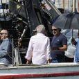 """Exclusif - Gérard Jugnot, François Berléand et Olivier Baroux - Tournage du film """"Entre amis"""" sur le Vieux Port de Marseille, le 22 juillet 2014."""