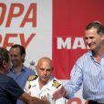 Le roi Felipe VI d'Espagne lors de la cérémonie de remise de prix de la 33e Copa del Rey (Coupe du Roi) à Palma de Majorque, le 9 août 2014.