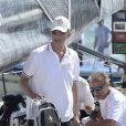 Le roi Felipe VI d'Espagne participe à la Copa del Rey à Majorque le 6 août 2014.
