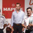 Le roi Felipe VI d'Espagne présidait le 9 août 2014 à Palma de Majorque la cérémonie de remise des trophées de la 33e Copa del Rey.