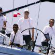 Le roi Felipe VI a barré le voilier Aifos le 9 août 2014 lors de la dernière journée de la 33e Copa del Rey, à Palma de Majorque, prenant la 4e place.
