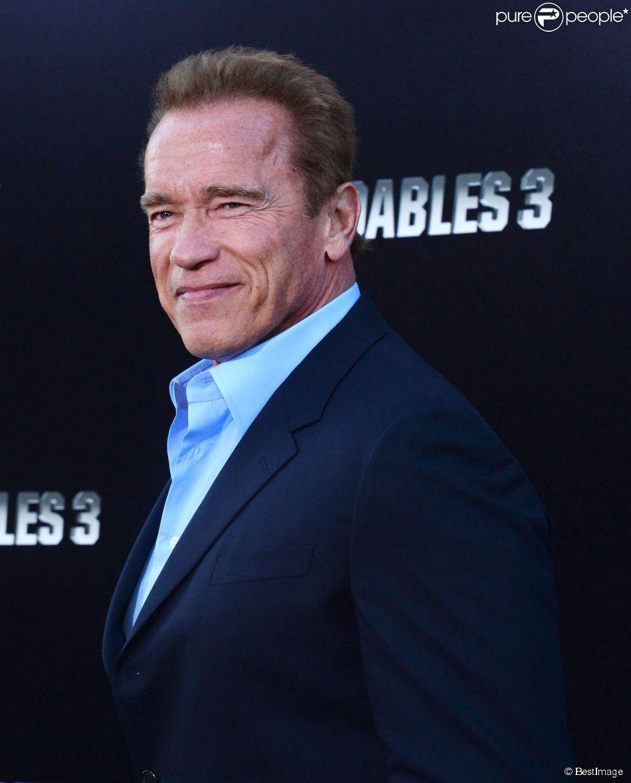 """Arnold Schwarzenegger à la première du film """"The Expendables 3"""" au TCL Chinese Theatre à Los Angeles. Le 11 août 2014."""