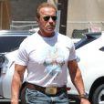 Arnold Schwarzenegger dans les rues de Los Angeles, le 9 juillet 2014.