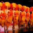La troupe du Moulin Rouge en représentation à Bombay en Inde, le 31 octobre 2012.