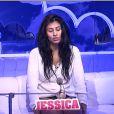 Jessica dans la quotidienne de Secret Story 8, sur TF1, le mardi 12 août 2014
