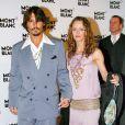 Johnny Depp et, Vanessa Paradis à Genève en Suisse, le 5 avril 2006.
