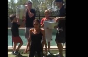 Victoria Beckham et ses fils : Courageux pour l'Ice Bucket Challenge en famille
