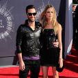 Adam Levine et Behati Prinsloo lors des MTV Video Music Awards à Los Angeles, le 25 août 2014.