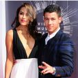 Nick Jonas et Olivia Culpo lors des MTV Video Music Awards à Los Angeles, le 25 août 2014.