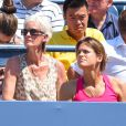 Judy Murray et Amélie Mauresmo lors du match d'Andy Murray au premier tour de l'US Open à l'USTA Billie Jean King National Tennis Center de New York le 26 août 2014