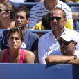 Amélie Mauresmo lors du match d'Andy Murray au premier tour de l'US Open à l'USTA Billie Jean King National Tennis Center de New York le 26 août 2014