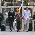 Brad Pitt and Angelina Jolie avec leurs enfants Maddox et Zahara à Los Angeles, le 14 jun 2014.