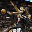 Dwyane Wade lors d'un match entre le Heat de Miami et les Spurs de San Antonio au AT&T Center de San Antonio, le 15 juin 2014