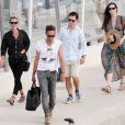 Kate Moss, Jamie Hince et Liv Tyler en vacances à Formentera, en Espagne. Le 19 août 2014.