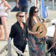 Kate Moss et Liv Tyler, en vacances à Formentera. Le 19 août 2014.