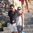 Kate Moss et son mari Jamie Hince à Formentera, le 23 août 2014.
