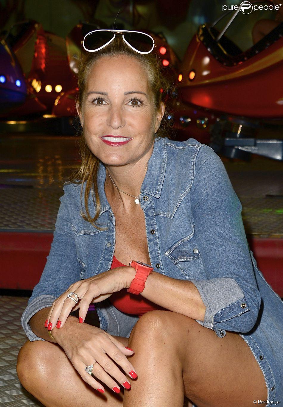 Sandy Valentino - Inauguration de la Fête à Neu-Neu au Bois de Boulgone, à Paris le 29 août 2014.