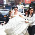 Michelle Harper et Jenny Shimizu à New York, le 22 août 2014. Se pourrait-il que leur mariage est déjà été célébré ?