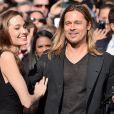 Angelina Jolie et Brad Pitt à Londres, le 2 juin 2013.