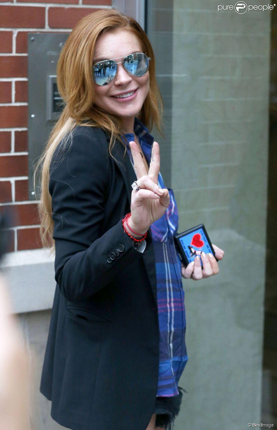 Lindsay Lohan dans les rues de New York, le 22 août 2014